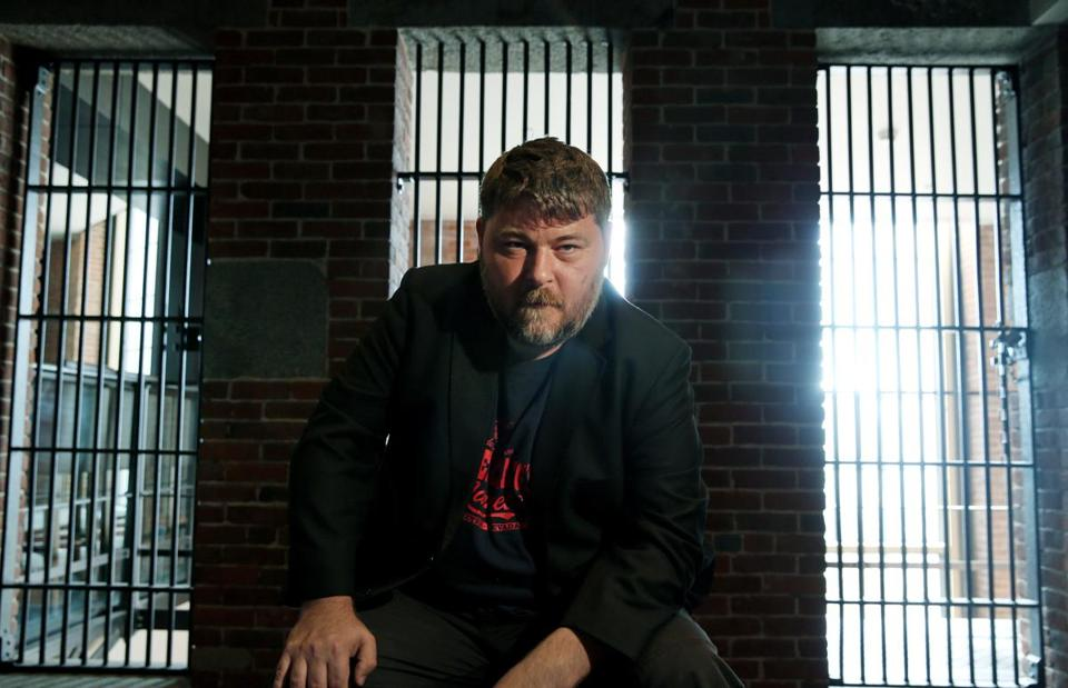 "Filmmaker Ben Wheatley visited Boston recently to talk about ""Free Fire."""