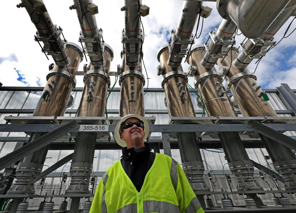 BOSTON, MA - 4/18/2017: Craig A. Hallstrom, President, Regional Electrical Operations Conn. and Mass. on site at substation. Eversource has built a massive substation on the waterfront to provide the booming Seaport with electicity. The substation is designed to withstand floods, tidal rise, and other storm events. ( David L Ryan/Globe Staff Photo) SECTION: BUSINESS TOPIC 19eversource
