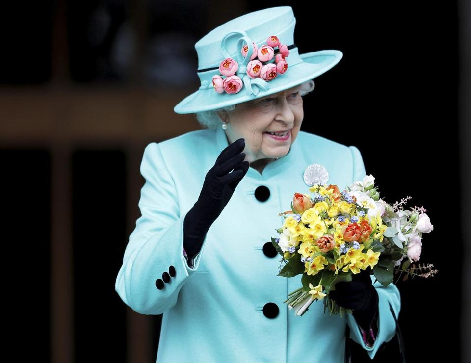 Britain's Queen Elizabeth II left Easter Sunday service in Windsor Castle last weekend.