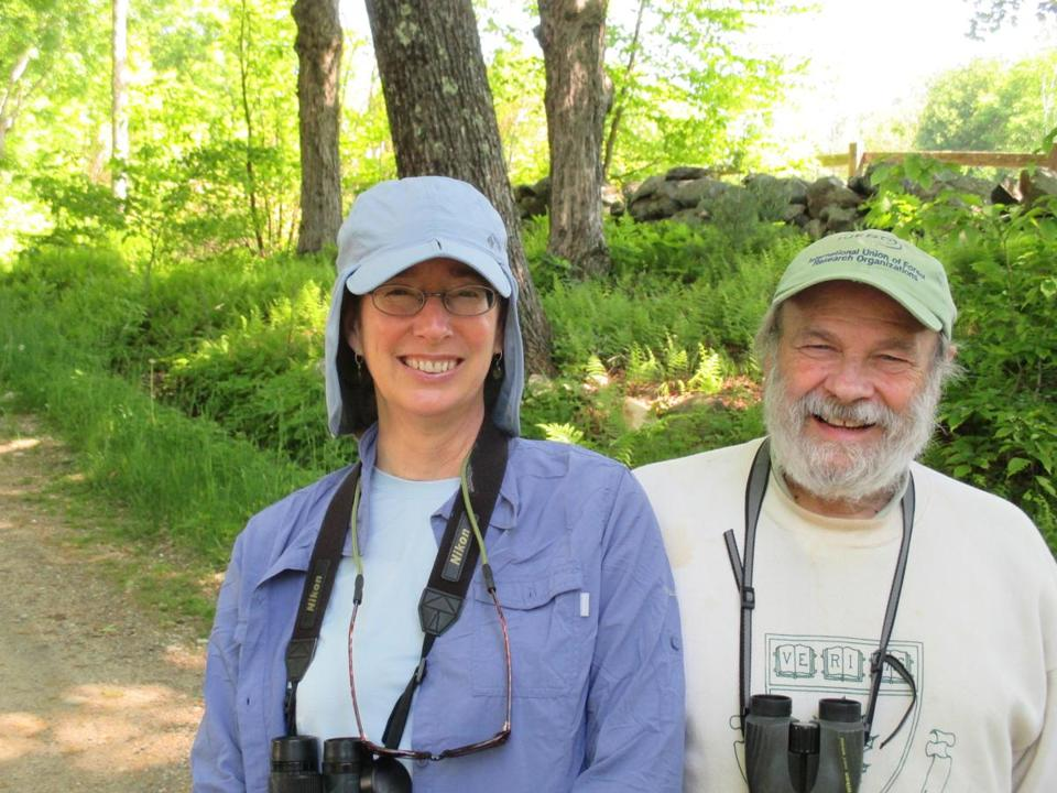 Biologist John O'Keefe (left, with Lynda V. Mapes) has studied the same 50 trees for 25 years. Mapes spent a year in the Harvard Forest studying one red oak and kept meticulous notes.