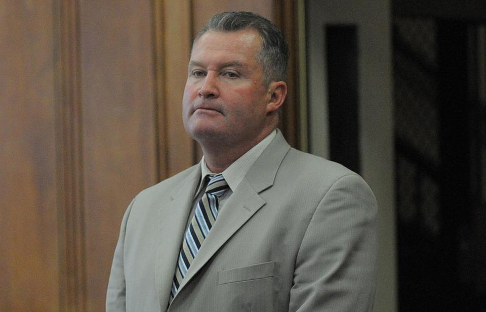 Former Probation Department head John J. O'Brien during a court appearance.