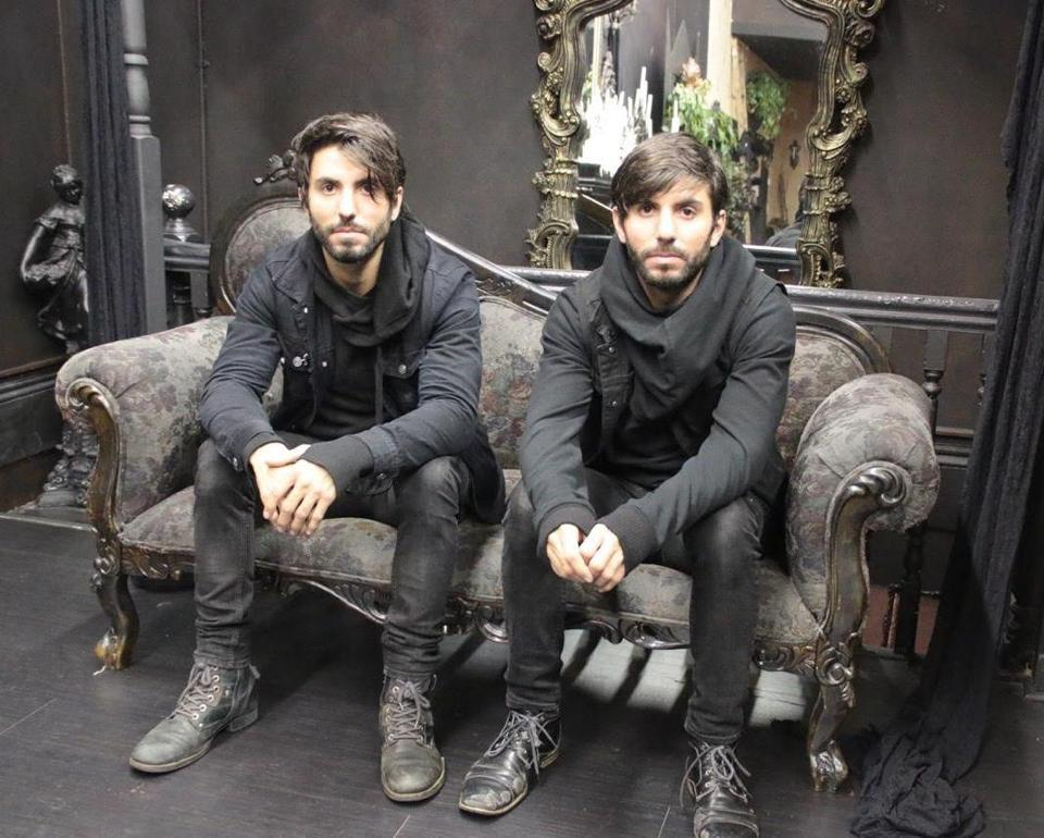 Matt (left) is six minutes younger than Ryan. Murray at the Black Veil Studio of Tattoo & Art in Beverly. (George Weinstein photo)