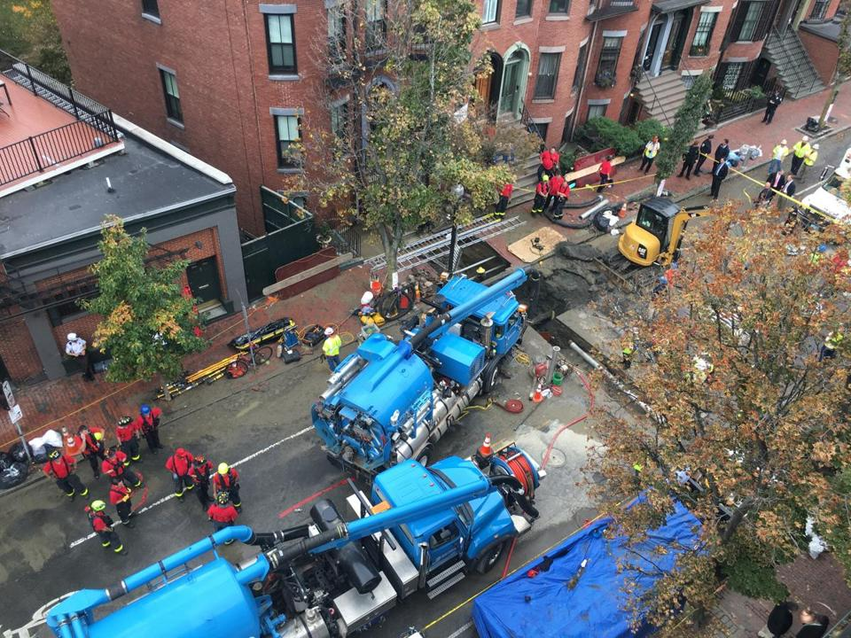 In October 2016, a trench collapsed on Dartmouth Street in Boston, killing two workers.