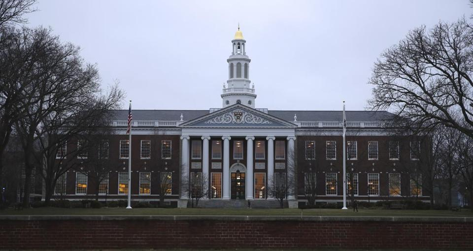 The Baker Library on the Harvard Business School campus.