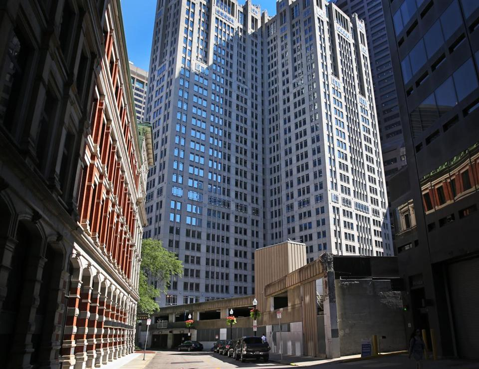 Millennium Partners wants to tear down the old Winthrop Square garage (at right) and replace it with a $153 million skyscraper.