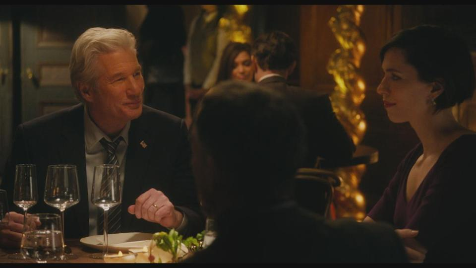 "Richard Gere and Rebecca Hall in ""The Dinner."""