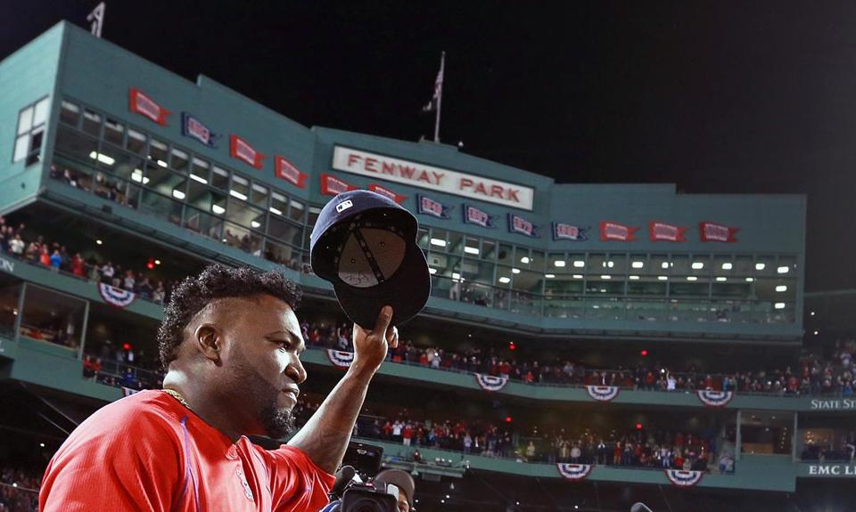 David Ortiz in the final game of his career at Fenway Park.