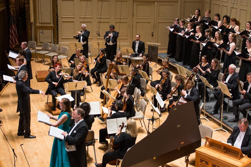 "Harry Christophers conducts the Handel and Haydn Society's Orchestra and Chorus in Friday's performance of Handel's ""Semele."""
