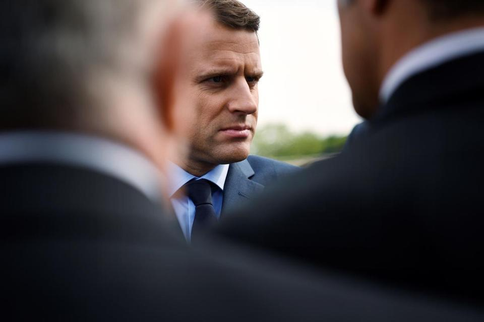 (FILES) This file photo taken on April 24, 2017 in Paris shows French presidential election candidate for the En Marche ! movement Emmanuel Macron arriving for a ceremony at a monument in memory of mass killings of Armenians by Ottoman forces in 1915. French voters will chose on May 7, 2017 between Pro-European centrist Macron and far-right rival, who have offered starkly different visions for France during a campaign closely watched in Europe and the rest of the world. / AFP PHOTO / Lionel BONAVENTURELIONEL BONAVENTURE/AFP/Getty Images