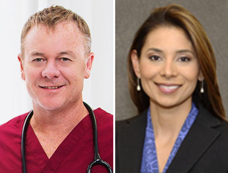Drs. Richard Field (left) and Lina Bolanos were killed last week in their South Boston home.
