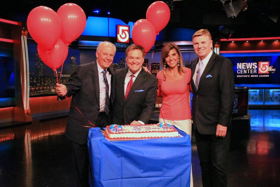 From left: WCVB's Harvey Leonard, Ed Harding, Maria Stephanos, and Mike Lynch.