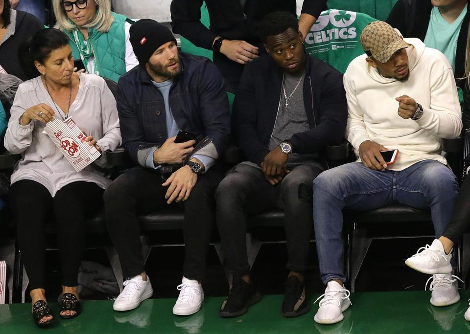 Boston, MA - 5/10/2017 - (1st quarter) New England Patriots wide receiver Julian Edelman courtside.The Boston Celtics host the Washington Wizards in Game 5 of the Eastern Conference Semi-Finals at TD Garden. - (Barry Chin/Globe Staff), Section: Sports, Reporter: Adam Himmelsbach, Topic: 11Celtics-Wizards, LOID: 8.3.2444148030.