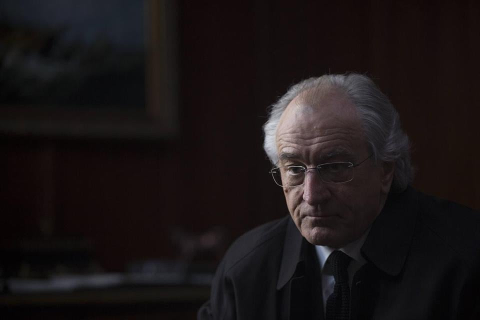 Robert De Niro as Bernie Madoff.