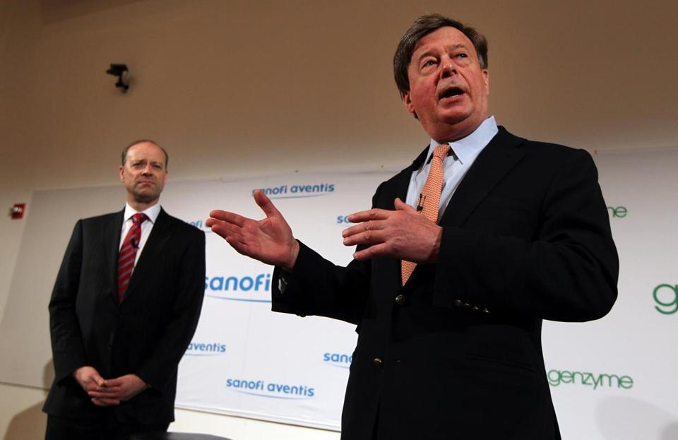 Mr. Termeer spoke in February 2011 at the news conference announcing Genzyme's purchase by Sanofi SA.