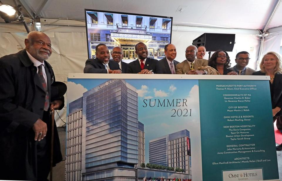 BOSTON, MA - 5/15/2017: ( NOTE: SHIRLEY LEUNG WILL ID IN PHOTO for her story Wednesday paper ) NEW HOTEL ....Omni Hotel.... the new $550 million hotel that will be built across from Boston Convention Center. The Massport hotel bid included a clause that women and minorities be equity partners in the deal. (Photo) SECTION: BUSINESS TOPIC 17leung
