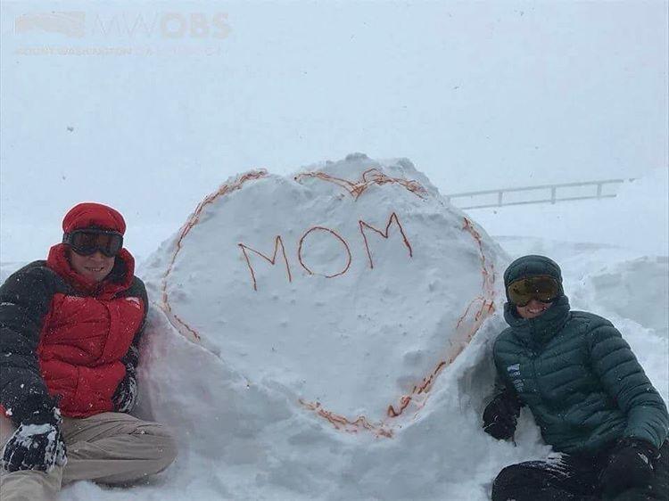 16snow - Snow on Mount Washington. (Mount Washington Observatory)