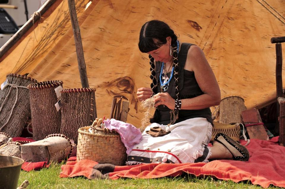 21socalendar - Jennifer Lee, Narragansett, will speak on Traditional Lifeways of the Northeast Woodlands People focusing on the 18th Century Trade Era at the Spring Moon Pow-Wow in Marshfield. (Bob Arcand)