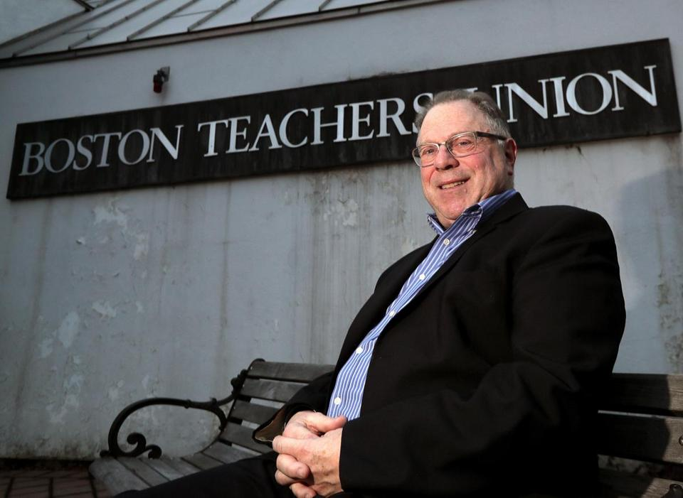 Boston, MA - 12/13/2016 - Portrait of Boston Teachers Union President Richard Stutman who is stepping down in June. - (Barry Chin/Globe Staff), Section: Metro, Reporter: James Vaznis, Topic: 14btu, LOID: 8.3.994096604.