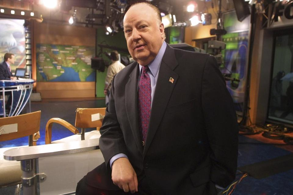Roger Ailes, at Fox News studios in New York in 2002, died Thursday at 77.