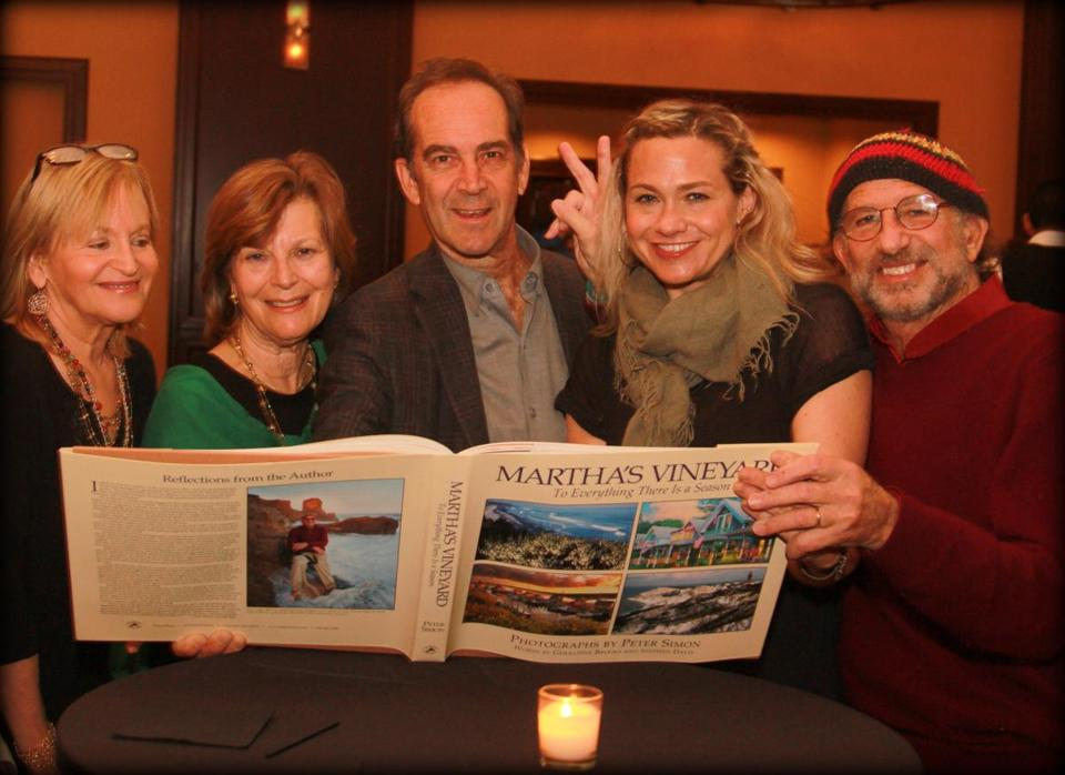 From left: Ronni Simon, Betsy and David Epstein, Sally Taylor, and Peter Simon.