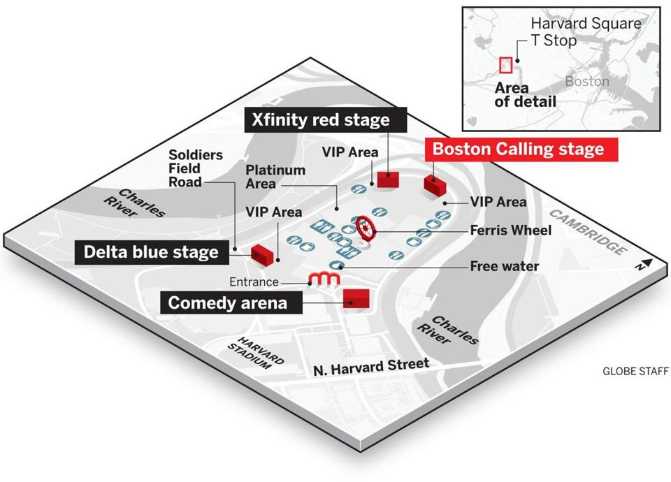 Where To Find It Your Map Of Boston Calling The Boston Globe