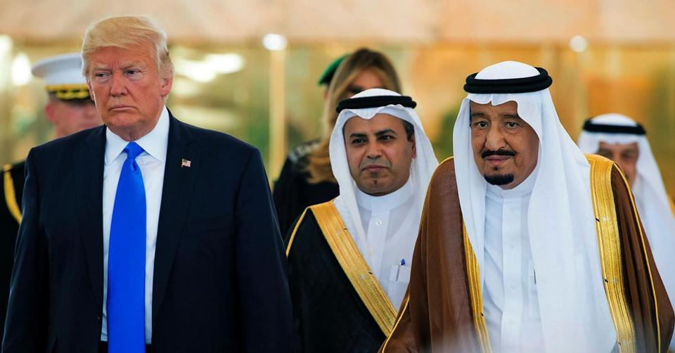 Image result for Trump and Saudi King Salman