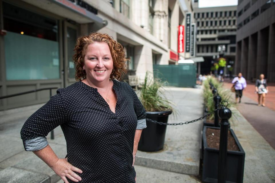 Chef Mary Dumont posed for a photo in 2016 outside the space that would become Cultivar.
