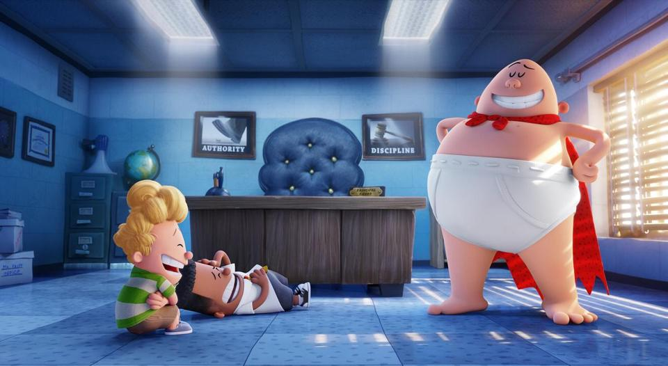 "From left: Harold (voiced by Thomas Middleditch) and George (voiced by Kevin Hart) in ""Captain Underpants."""