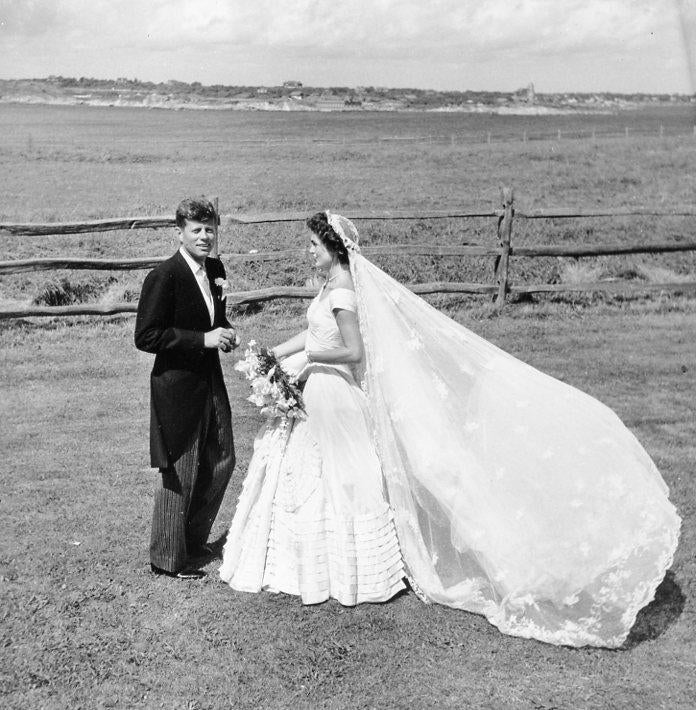 September 12 1953 / Photo from the Library of Congress / Senator John F. Kennedy and wife Jacqueline on their wedding day. jfk100
