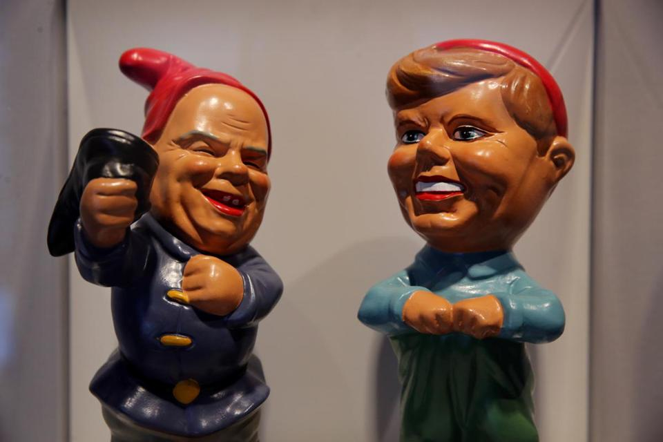 5b213f9e958 Cold War garden gnomes portraying President Kennedy and Premier Khrushev  that are part of the museum s