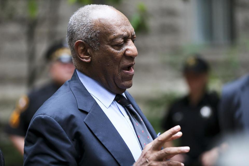 Bill Cosby talked to the media last week after he left a Pittsburgh courthouse following jury selection.