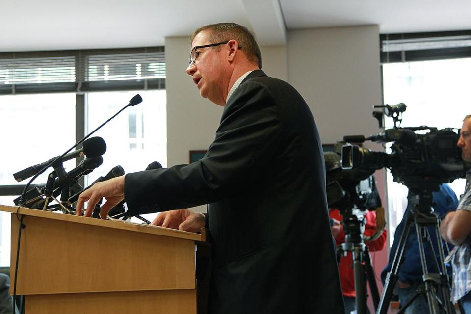 Michael Mulhern stepped down as chief of the MBTA's pension fund in June 2016.
