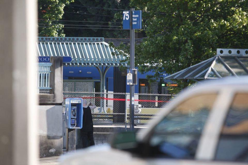 Police investigated a deadly stabbing on a train in northeast Portland Friday.