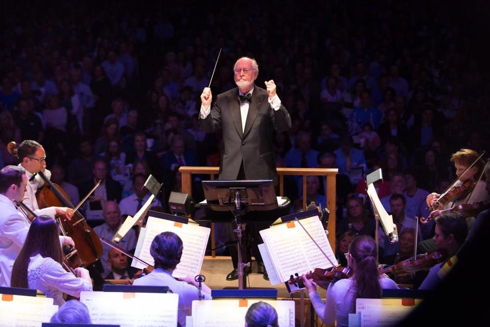 "John Williams conducts ""Film Night"" at Symphony Hall."