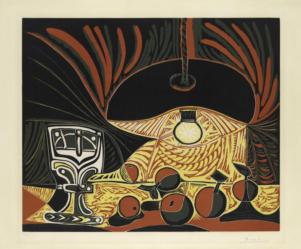 """Still Life With Glass Under the Lamp"" is part of ""Picasso: Encounters"" at the Clark Art Institute."