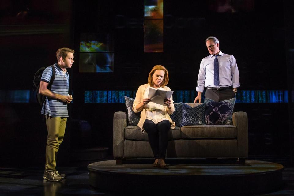 "Ben Platt, Jennifer Laura Thompson, and Michael Park in ""Dear Evan Hansen."""