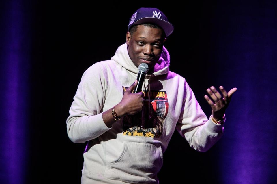 Boston, MA - 06/02/2017 - Comedian Michael Che performs at the Wilbur Theater in Boston on Jun. 2, 2017. (Ben Stas for The Boston Globe)