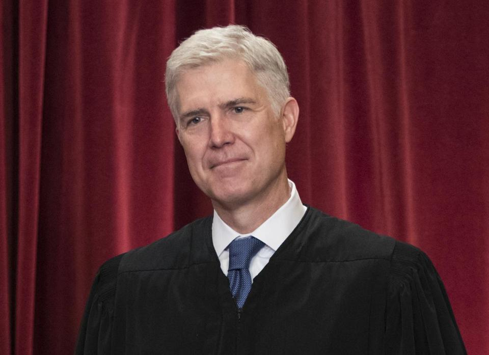 Supreme Court Justice Neil Gorsuch at the Supreme Court Building in Washington on Thursday.