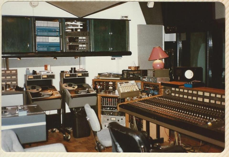 Syncro Sound's control room.