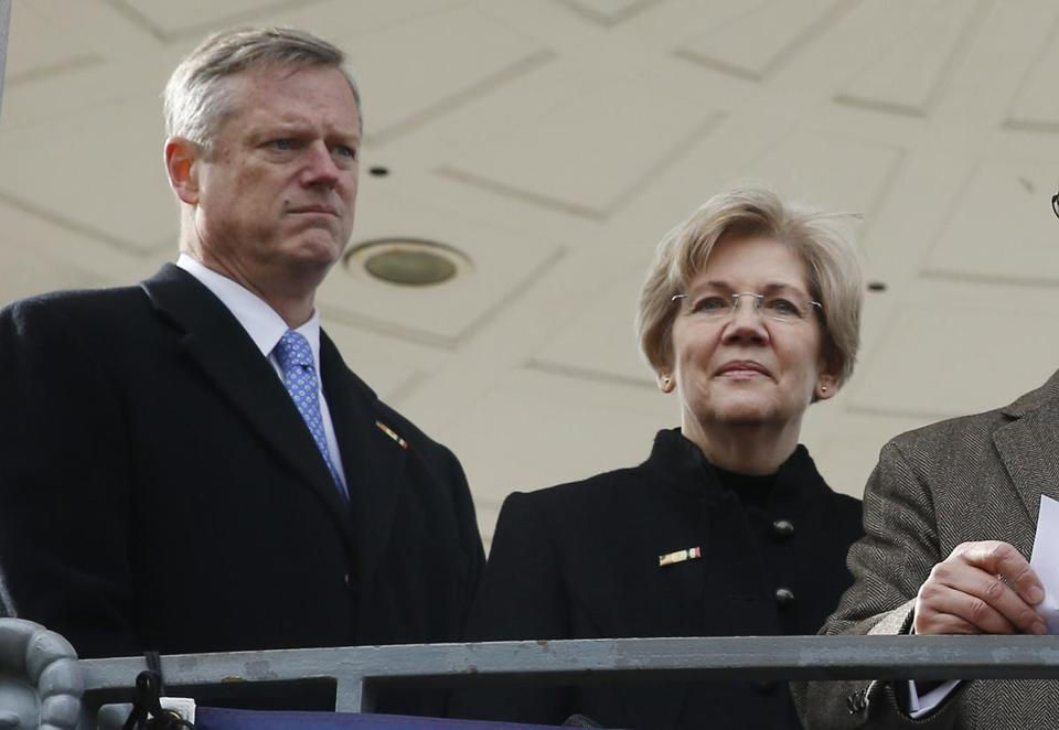 Governor Charlie Baker has a 59 percent favorable rating in the Suffolk University/Boston Globe poll released earlier this week. Senator Elizabeth Warren's favorable rating is at nearly 57 percent.