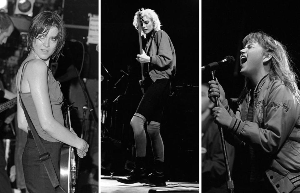 From left: Juliana Hatfield, 'Til Tuesday's Aimee Mann, and Kay Hanley of Letters to Cleo,