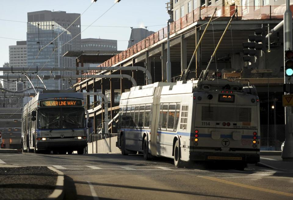 The Silver Line extension from the Seaport to Chelsea will open next spring.