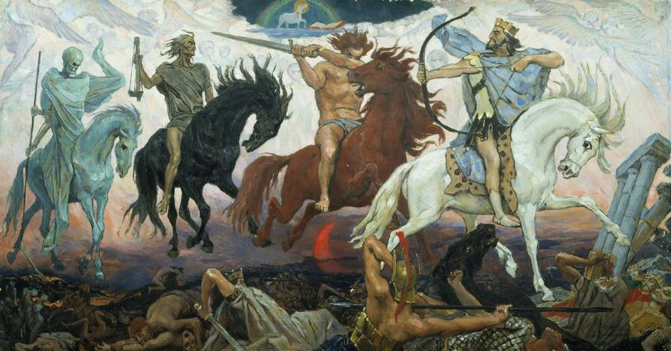 """Four Horsemen of Apocalypse,"" by Viktor Vasnetsov. Painted in 1887."