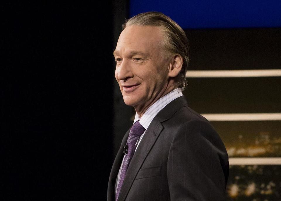 "This June 2, 2017 photo released by HBO shows Bill Maher, host of ""Real Time with Bill Maher,"" in Los Angeles. HBO says academic Michael Eric Dyson will be filling this week's guest slot after Sen. Al Franken bowed out of ""Real Time with Bill Maher"" in the wake of Maher's use of a racial slur last week. Maher was roundly criticized for using the N-word in a joking reference to himself as a house slave. Although he later apologized, Franken called his remark ""inappropriate and offensive."" (Janet Van Ham/HBO via AP)"