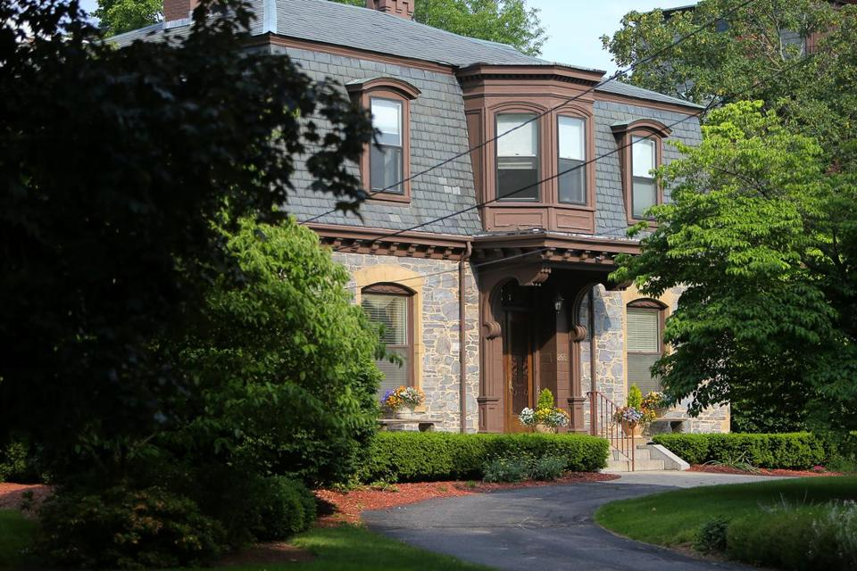 Wheelock's president's house at 295 Kent St. in Brookline is on the market for $3.1 million.