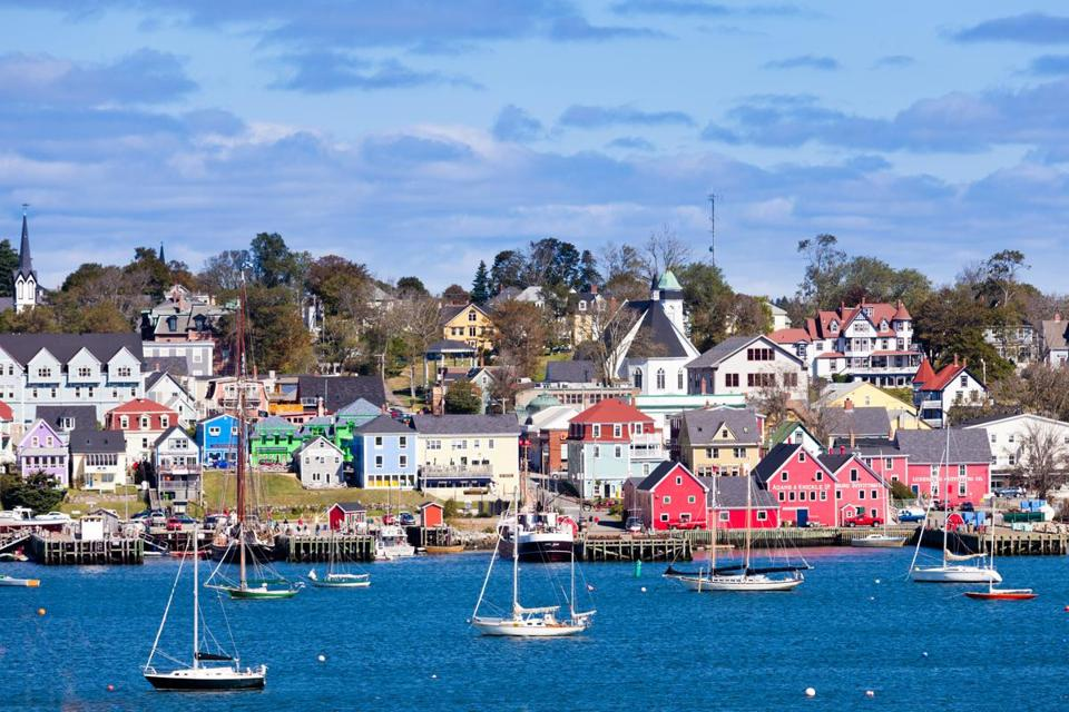 The harbor town of Lunenburg, a UNESCO World Heritage site, on the coast of Nova Scotia.