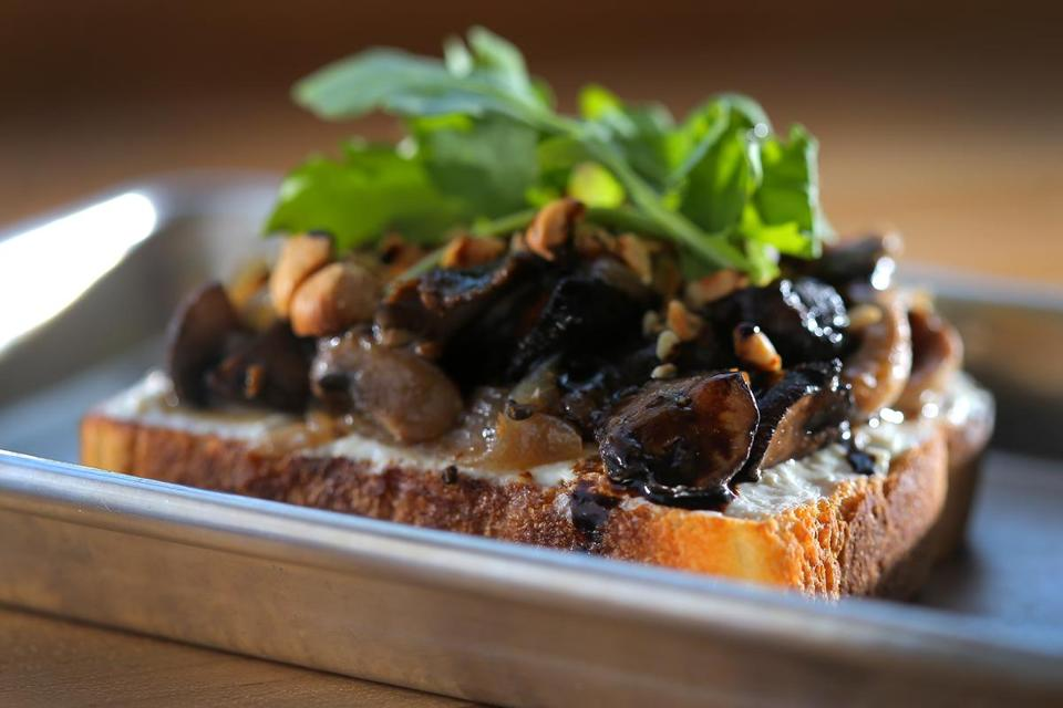 Cambridge, MA - 06/13/17 - Shroom toast at NOCA Provisions on Ringe Avenue in Cambridge. (Lane Turner/Globe Staff) Reporter: (Kara Baskin) Topic: (18quickbite)