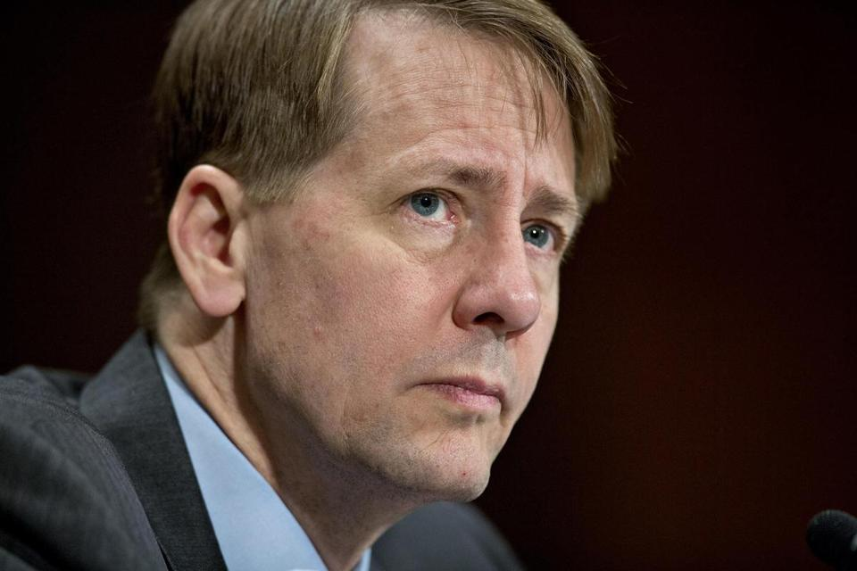 Some Republican lawmakers continue to call on President Donald Trump to fire Consumer Financial Protection Bureau Director Richard Cordray, seen here in April 2016. MUST CREDIT: Bloomberg photo by Andrew Harrer
