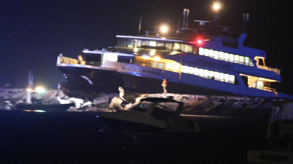 A high-speed ferry crashed in Hyannis Harbor Friday night.