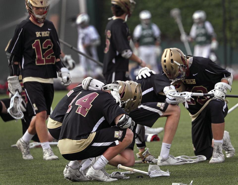 . . . While the agony of defeat was painfully visible among BC High's players..